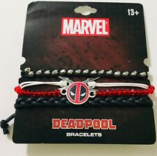 Marvel Deadpool Bracelets Red Black New! Great Gift For Deadpool Fans