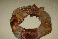 Feather Wreath Wall Door Hanging Pheasant Feather. Cabin Decor, Farmhouse, Lodge