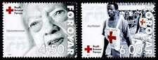 Faroe Islands 2001 Red Cross Set, Older Woman & Stretcher Team, MNH / UNM