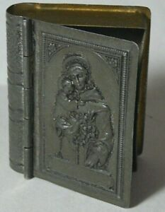 Box Icon Mother of God Book Silver-Plate Metal Imperial Russia 1916