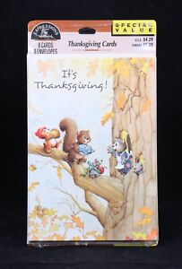 Hallmark Thanksgiving Cards. 8 cards and 8 envelopes. Sealed