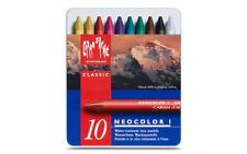 Caran d'Ache NEOCOLOR Wax Oil Pastel 10 Colors Water Resistant Creamy Artist