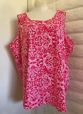 Catherines 4X Dark Coral Sleeveless Pullover Blouse Tunic Tank Top Plus Size NEW