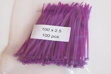 100 Purple Cable Ties, Zip Ties, Tie Wraps