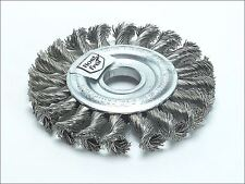 Lessmann - Knot Wheel Brush 100mm x 12mm M14 x 0.50 Steel Wire