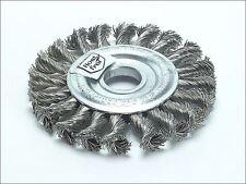 Lessmann - Knot Wheel Brush 100mm x 12mm M14 x 0.50 Steel Wire