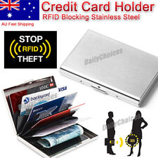 Deluxe Wallet ID Credit Card Holder Anti RFID Blocking Stainless Steel Case