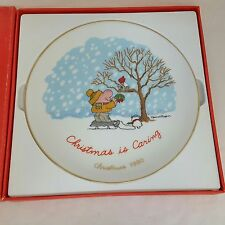 Vintage Ziggy Christmas Is Caring Plate Designers Collection Tom Wilson 1980