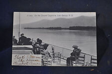 1906 On the Steamer Sagamore, Lake George, NY Postcard