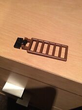 Vintage Lego Brown 7x3 Ladder Double Clips & Black Hinge Plate Part 6020