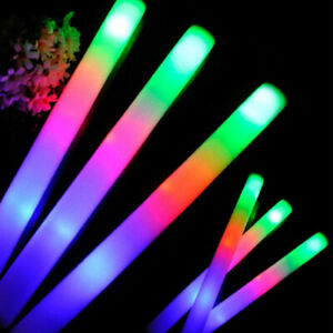 "1/50/100 Pack - 18"" Foam Sticks, LED Flashing Glow Foam Sticks, Light"