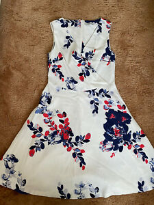 Dickins & Jones White Floral Dress Size 8