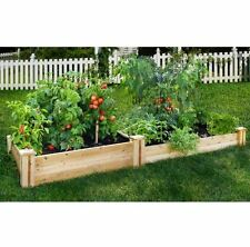 2-Tier Garden Bed,Cedar Raised Plant Flower Vegetable Planter,Rectangle Wood Box