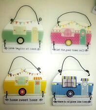 Cute Retro Vintage Style Caravan Mini Plaque Sentiment Wall Hanging