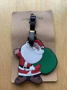 Santa Father Christmas Present Bag sack Luggage Tag Kids Label. FREE UK POSTAGE