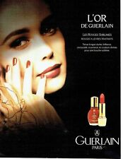 Publicité Advertising 087  1992  Guerlain  L'Or d'or rouge lèvres & C. Schiffer