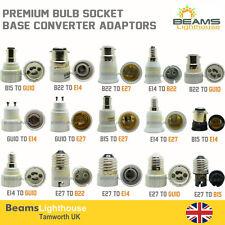 Light Socket Adaptor Base Converter Extender Lamp Holder GU10 B22 E14 E27 BC ES