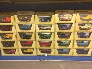 Matchbox Models Of yesteryear, Job Lot (27)25 Vans/trucks In Straw Boxes Lesney