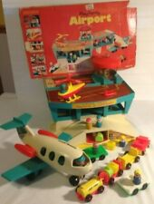 Fisher Price Play Family Airport # 996 vintage 1972 partial Box complete