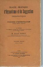 Traité pratique d'hypnotisme et de suggestion thérapeutiques.Géraud Bonnet.1923.