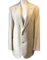 CHATSWORTH Mens Designer Cream Jacket Blazer British Tailored Vtg 1990s UK 42