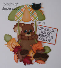 SqUiRrEl FaLl AuTuMn PreMade Paper Piecing Die Cut Scrapbook Border danderson651