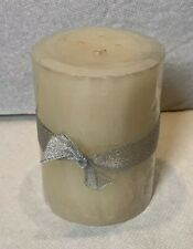 "NEW Pier 1 Silver Snow 2.8"" X 4"" Decorative Scented Pillar Candle"