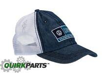 NEW VW Volkswagen Driver Gear Denim Garage Service Cap Hat Mesh Back  DRG014903 cdfe6c8cb785