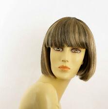 Perruque femme méchée courte blond clair méché cuivré chocolat ELISA 15613H4