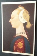 OLD POSTCARD OF A YOUNG LADY OF FASHION, UCCELLO, ISABELLA STEWART GARDNER
