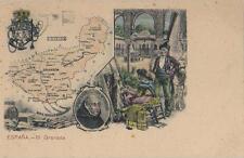 Postal MAPA Provincias. Nº 19. GRANADA.