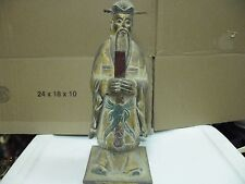 vintage chinese china Confucius teacher philosopher wood statue figurine