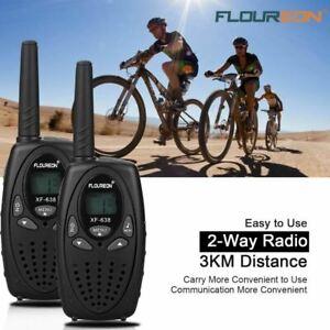 FLOUREON 8 Canaux Talkie Walkie Lot de 4 UHF400-470MHZ 2-Way Radio 3KM Interpho