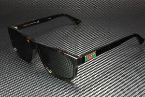 GUCCI GG0770SA 003 Havana Dark Green Square 58 mm Men's Sunglasses