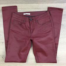 Mavi Alexa Maroon Waxed Skinny Women's Jeans Size 26 Fit W28 L31.5 (P19)