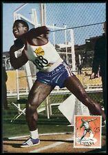 SPAIN MK 1964 OLYMPICS OLYMPIA KUGELSTOßEN MAXIMUMKARTE MAXIMUM CARD MC CM bf79