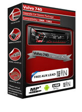 Volvo 740 Autoradio, Pioneer CD MP3 Autoradio con Anteriore USB Aux