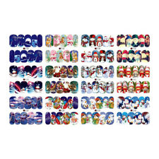 12 Sheets beauty Christmas water transfer nail art stickers decals nails de L4J3