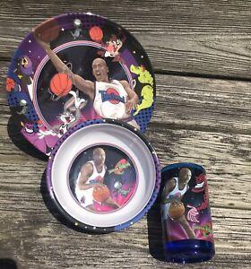 Michael Jordan Space Jam Child's Dinner Set Plate Bowl Tumbler UNUSED Out of Box