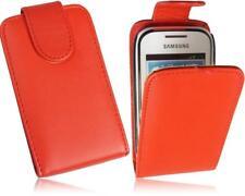Samsung S5310 Galaxy Pocket Neo Flip Handytasche PU Leder Tasche Rot-2 Case