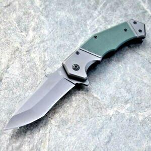 Drop Point Folding Knife Pocket Hunting Survival Tactical Combat Titanium Coated