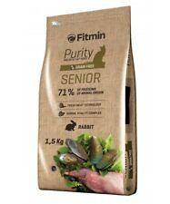 Fitmin Senior 1,5 KG Crocchette Croccantini Per Gatti Anziani 80% Coniglio Grain