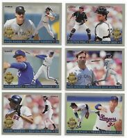 1993 Fleer Diamond Tribute Complete Set Of 10 Nolan Ryan George Brett All HOF!