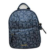 Calvin Klein Backpack Woman Logo Blue Handbag Retail $138 New Original