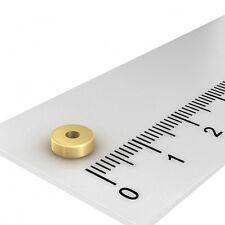 250x POWER NEODYM RING MAGNET, 6x2 mm MIT 2 mm BOHRUNG, GRADE N45, VERGOLDET