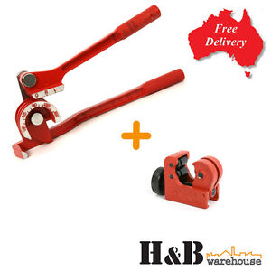 """3 IN 1 180° Tube Pipe Bender 1/4 """" 5/16 """" 3/8 """" With Mini Tube Cutter"""