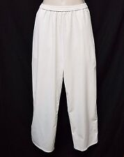 304$ ROQUE BY ILARIA NISTRI Sz 44/10 OFF-WHITE ANKLE LENGTH LOW CROTCH PANTS