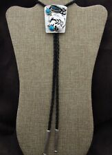 Heavy Sterling Silver Turquoise Eagle Bolo Tie