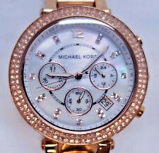 "Michael Kors MK5491 Women's Rose Gold Tone Analog Watch Size 6 1/2"" Used"