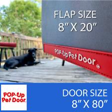 "Md 80"" Original Pop-Up Pet Doorâ""¢ Free Shipping! For Glass & Screen Sliding Doors"